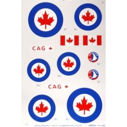 MAJOR DECALS Naklejki RCAF .40