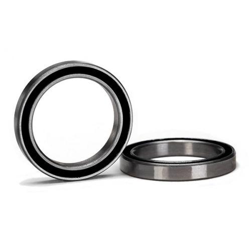 Ball bearing, black rubber sealed (20x27x4mm) (2)