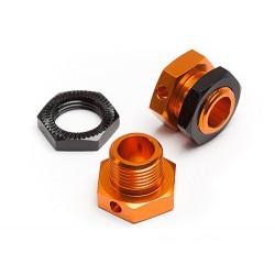 5mm Hex Wheel Adapters Trophy Buggy (Orange/Black)