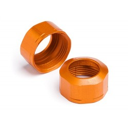 SHOCK CAP 12xM13x0.8mm (ORANGE/GROOVED/2pcs)