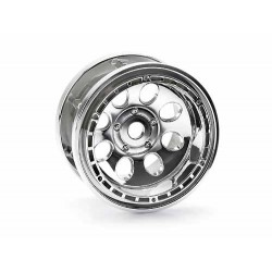 ROCK 8 BEAD LOCK WHEEL CHROME (55x36mm/2pcs)