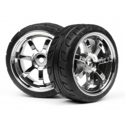 MOUNTED T-GRIP TIRE 26mm RAYS 57S-PRO WHEEL CHROME