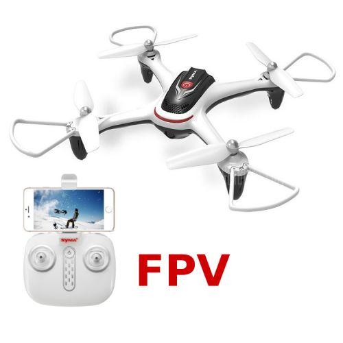 Dron X15W (Biały) + Podgląd FPV + Barometr + Auto start i lądowanie