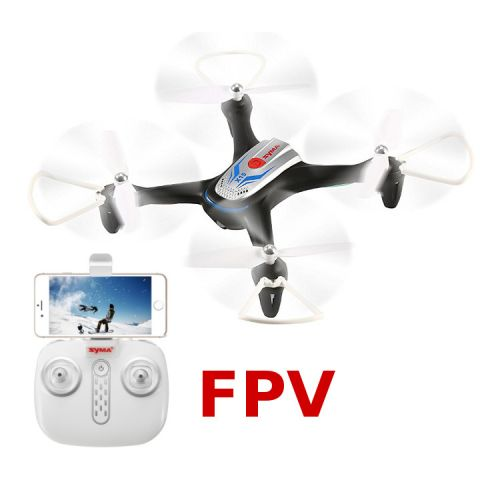 Dron X15W (Czarny) + Podgląd FPV + Barometr + Auto start i lądowanie