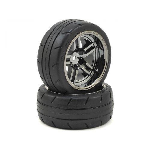 "Koła 2szt. / Tires & Split-spoke black chrome wheels 1.9"""