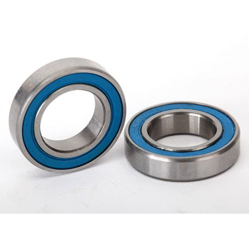 Łożyska 12x21x5mm 2szt. / Ball bearings, blue rubber sealed do E-Revo