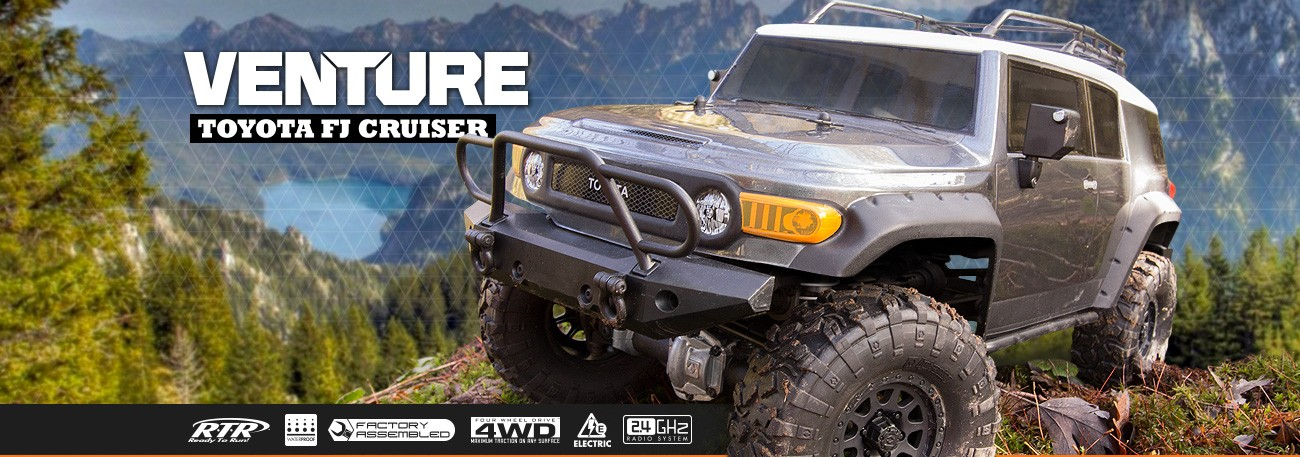 HPI RACING Venture FJ Cruiser RTR 4WD Scale Crawler (Gunmetal)