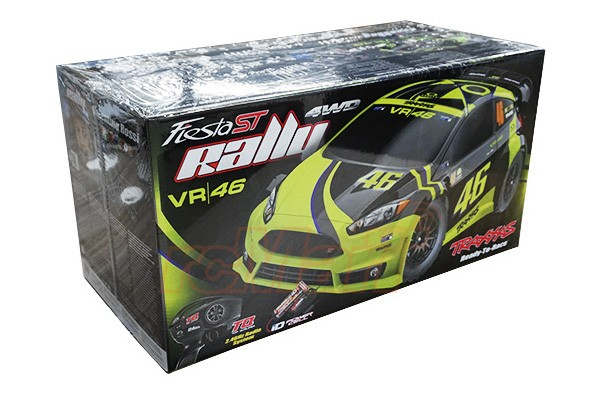 TRAXXAS FORD Fiesta ST Rally 4WD 1/10 Valentino Rossi