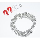 Łańcuch 96cm + Metalowe haki / Steel Chain and Hook Set 1:10