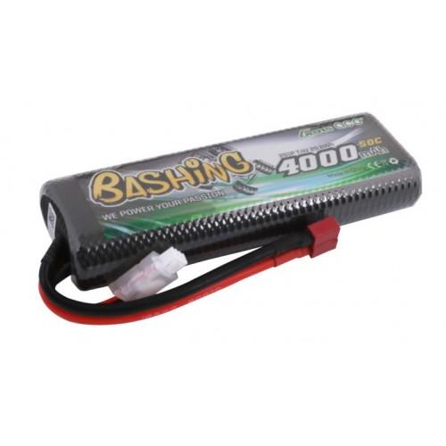 Akumulator LiPo BASHING 7,4V 4000mAh 50C 2S DEAN (B-50C-4000-2S1P-HC-8)