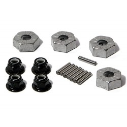 HEX WHEEL HUB 14MM (SILVER/4 PCS)