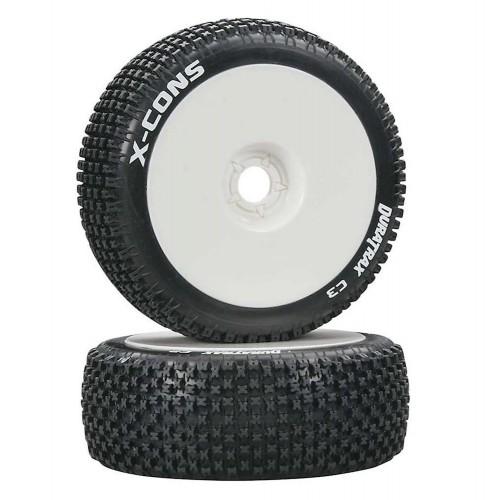 Koła 2szt. Buggy 1/8 X-Cons C3 (Super Soft) Tires & Dish Style Wheels