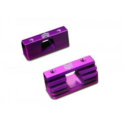 BILLET HEATSINK ENGINE MOUNTS(PURPLE)