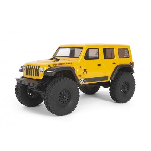 SCX24 2019 Jeep Wrangler JLU CRC 1/24 4WD RTR (Żółty)