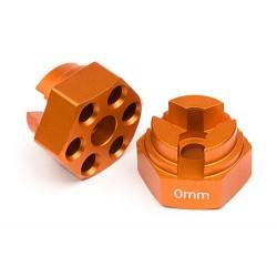 ALUMINUM HEX HUB (0mm OFFSET/ORANGE)
