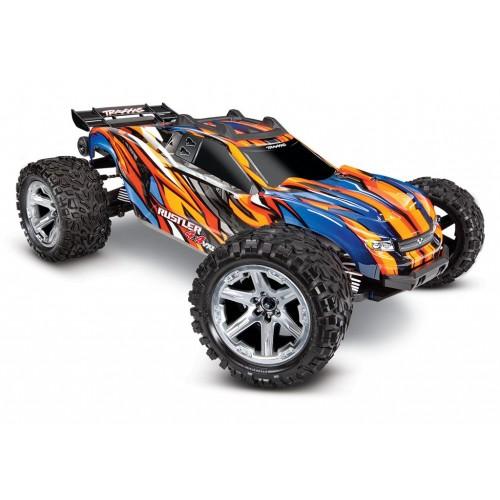 Auto Rustler V2 4x4 VXL 1/10 (orange) - Nowa wersja
