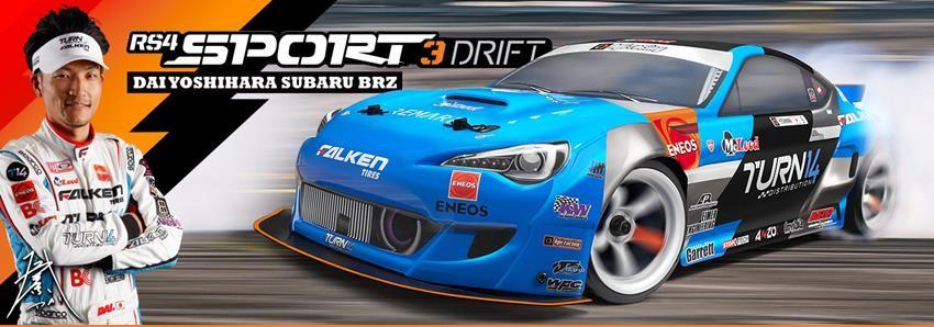 HPI RS4 SPORT 3 DRIFT! FEATURING DAI YOSHIHARA'S SUBARU BRZ!