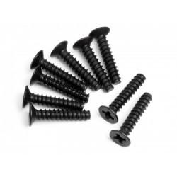 Countersunk Cross Head Self-Tapping Screw M3x15mm (9Pcs)