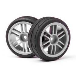 Split 6 Spoke Wheels and Cut Slick Tyres (2Pcs) (Strada EVO TC)