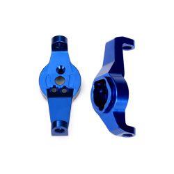 TRAXXAS - komplet zwrotnic lewa / prawa - niebieskie aluminum 60