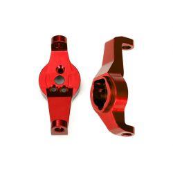 TRAXXAS - komplet zwrotnic lewa / prawa - czerwone aluminum 6061