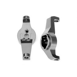 TRAXXAS - komplet zwrotnic lewa / prawa - szare aluminum 6061-T6