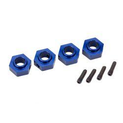 TRAXXAS - elementy mocowania kół HEX 12mm - niebieskie aluminium
