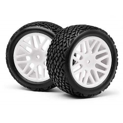 Rear Wheel With Tyre (2Pcs) (Strada EVO XB)