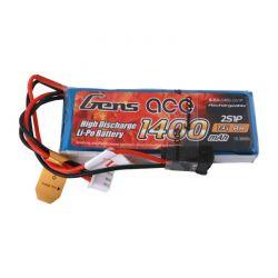 GENS ACE Akumulator LiPo 1400mAh 7,4V 1C 2S1P JR