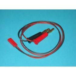 Przewód do ładowania 0,5mm2 - wtyk bananowy / BEC