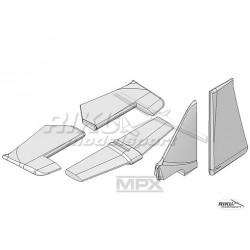 Multiplex [224203]. Acro Master - komplet stateczników.