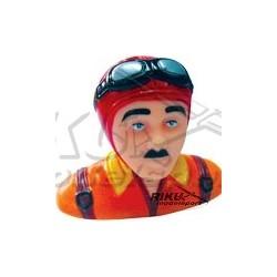 Figurka pilota - czerwono pomarańczowa 50mm