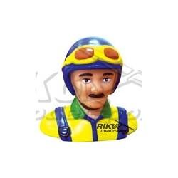 Figurka pilota - niebiesko żółta 63mm