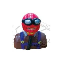 Figurka pilota - czerwono brązowa 60mm