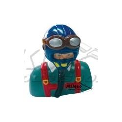 Figurka pilota - niebiesko szara 60mm