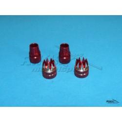 HITEC - aluminiowe nakładki na drązki - czerwone - AURORA.