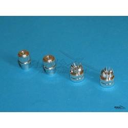 HITEC - aluminiowe nakładki na drązki - srebrne - OPTIC, ECLIPSE