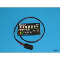 Elektroniczny miernik stanu naładowania akumulatora 4,8 - 11,1V