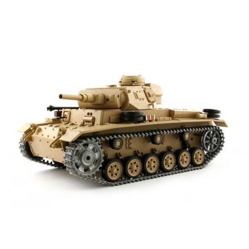 Czołg Tauch Panzer III (działko ASG/dźwięk/dym/metal) 1:16