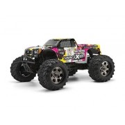 HPI RACING Savage X 4.6 2.4GHz GT-3 Truck (Yellow/Pink) RTR