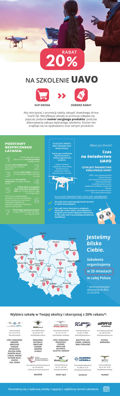 Rabat 20% na szkolenie UAVO