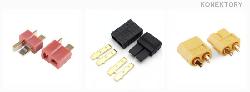 Wtyki do akumulatorów, modeli i ładowarek