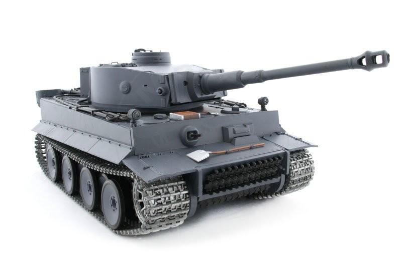 Czołg HENG LONG German Tiger I - Panzerkampfwagen VI Tiger Ausf. E 2.4GHZ steel 1:16 Grey