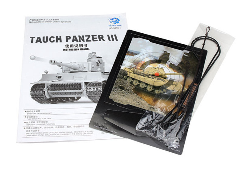 Czołg HENG LONG German Tauch Panzer III - PzKpfw III Ausf. H Metal 1:16