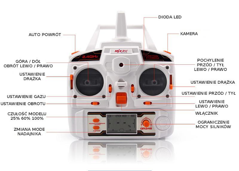 Dron MJX X600 CAM z kamerą